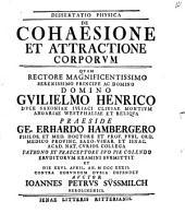 Dissertatio de cohaesione et attractione corporum