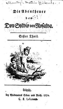 Die Abentheuer des Don Sylvio von Rosalva PDF
