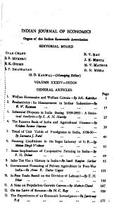 Indian Journal of Economics PDF