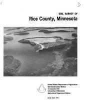 Soil survey of Rice County, Minnesota