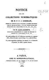 Notice sur les collections numismatiques de M. P. F. J. Gossellin