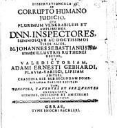 Dissertatiuncula de corrupto humano iudicio