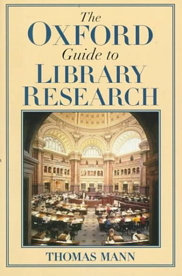The Oxford Guide to Library Research PDF