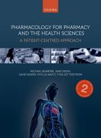 Pharmacology for Pharmacy and the Health Sciences PDF