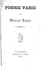 Poesie varie di diversi autori