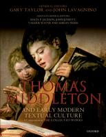 Thomas Middleton and Early Modern Textual Culture PDF