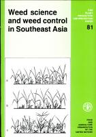 Weed Science and Weed Control in Southeast Asia PDF