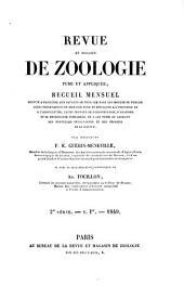 Revue et magasin de zoologie pure et appliquée; ..