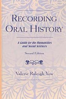 Recording Oral History Book