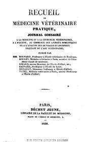 Recueil de médecine vétérinaire: Volume15