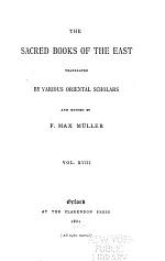 The Sacred Books of the East: Pahlavi texts, pt. 2