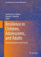 Resilience in Children  Adolescents  and Adults PDF