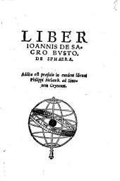 Liber Ioannis de Sacro Busto, de sphaera