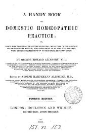 A handy book of domestic homœopathic practice