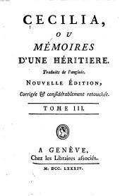 Cécilia ou Mémoires d'une héritière: Volume3