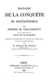 Histoire de la conquête de Constantinople