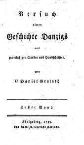 Versuch einer Geschichte Danzigs
