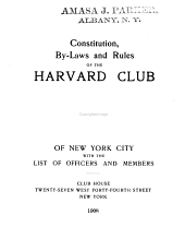 By-laws, Rules and List of Officers and Members