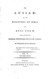 The Lusiad: Or, The Discovery of India. An Epic Poem, Volume 2