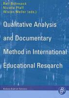 Qualitative Analysis and Documentary Method in International Educational Research PDF