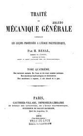 Traité de mécanique générale