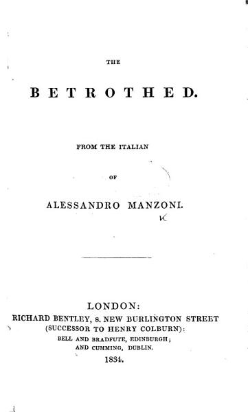 Download The Betrothed  Etc Book