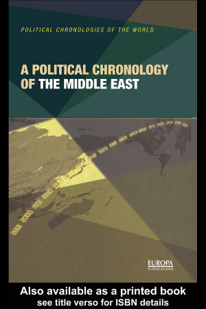 A Political Chronology of the Middle East PDF