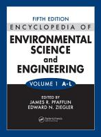Encyclopedia of Environmental Science and Engineering  Volumes One and Two PDF