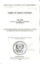 Special consular reports: Volume 16