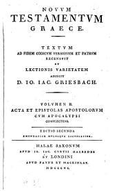 Novum Testamentum Graecum: Volume 2