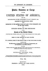 The Public Statutes at Large of the United States of America: Treaties between the United States and the Indian tribes