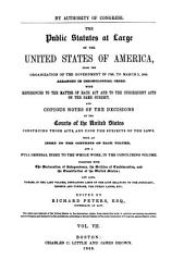 The Public Statutes at Large of the United States of America  Treaties between the United States and the Indian tribes PDF