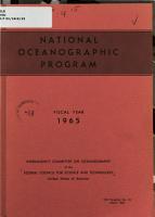 National Oceanographic Program  Fiscal Year 1965 PDF