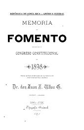 Memoria de fomento presentada al Congreso Constitucional de...