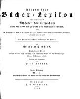 Allgemeines B  cher Lexikon  Bd  1875 79  Bearb  u  hrsg  von O  Kistner  1881 82  2  v PDF