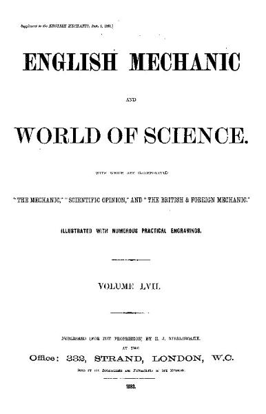 Download English Mechanics and the World of Science Book