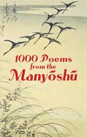 1000 Poems from the Manyoshu PDF