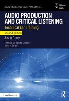 Audio Production and Critical Listening PDF
