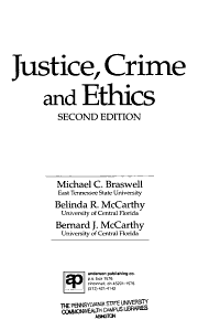 Justice  Crime  and Ethics