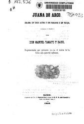 Juana de Arco: drama en tres actos y un prólogo y en verso