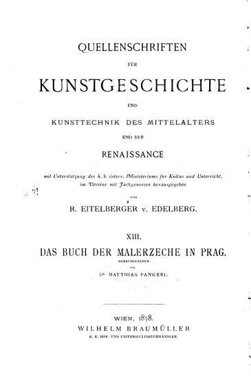 Das Buch der Malerzeche in Prag PDF