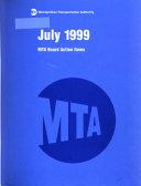 MTA Board Action Items