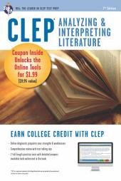 CLEP Analyzing & Interpreting Literature Book + Online