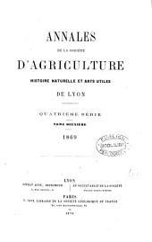 Annales de la société d'agriculture, histoire naturelles et arts utiles de Lyon