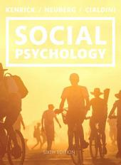 Social Psychology: Goals in Interaction, Edition 6