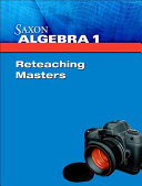 Saxon Algebra 1 PDF