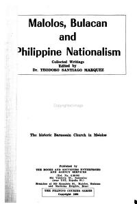 Malolos  Bulacan and Philippine Nationalism PDF
