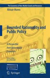 Bounded Rationality and Public Policy: A Perspective from Behavioural Economics