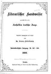 Literarischer Handweiser zunächst für alle katholische Deutschland: Band 32,Ausgaben 567-590