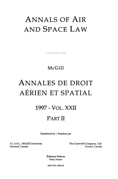 Annals of Air and Space Law PDF